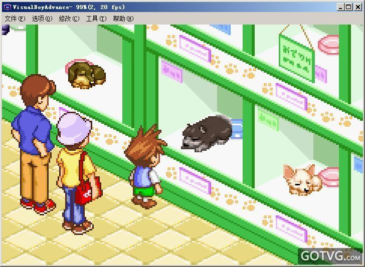 游戏名字:可爱小狗 游戏类型:gba - 闯关游戏  act游戏  动作游戏
